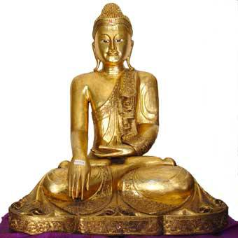 buddha statuen mit blattgold belegt wieder eingetroffen. Black Bedroom Furniture Sets. Home Design Ideas