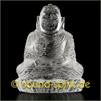 Buddha aus Bergkristall, 31,4 Gramm, 4,5 x 3,5 cm