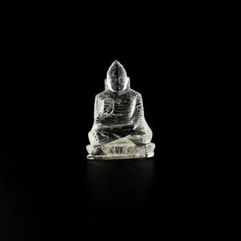 Buddha aus Bergkristall, 37,4 Gramm, 5,5 x 4 cm