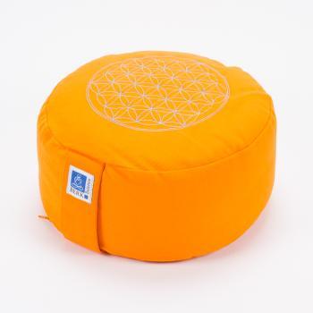 Meditationskissen Blume des Lebens, orange