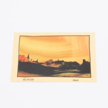 Postkarte Welt im Stein Atlantis