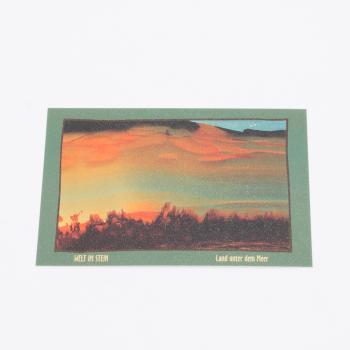 Postkarte Welt im Stein Land unter dem Meer