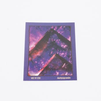 Postkarte Welt im Stein Amethystpyramiden