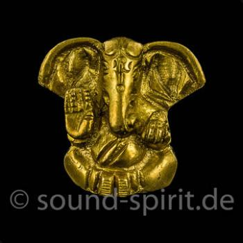 Ganesha sitzend, Messing, ca. 3 cm