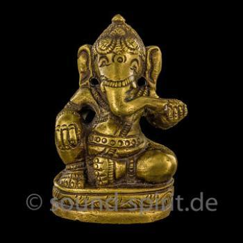 Ganesha sitzend, Messing, ca. 6,5 cm