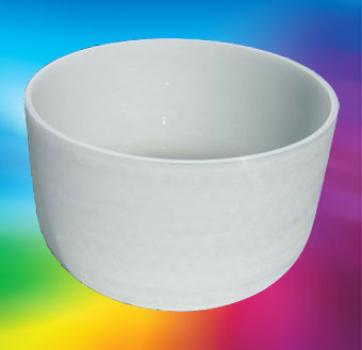 Quarzkristall-Klangschale ca. 20 cm Durchmesser mit Klöppel