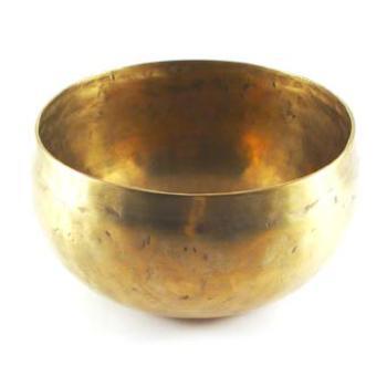 Planetenschale® antik Realistisch und klar sein mit Saturn, Ø 11 cm, 500-600 Gramm inkl. Klöppel