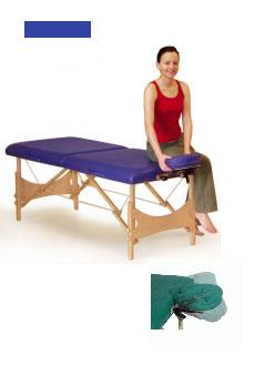 clap tzu massageliege farbe blau mit kopfst tze tasche. Black Bedroom Furniture Sets. Home Design Ideas