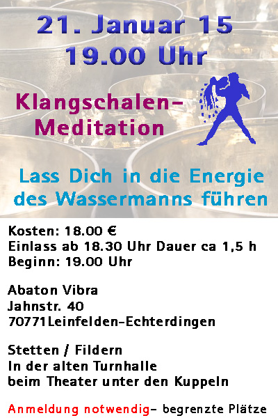 klangmeditation am 21. Januar