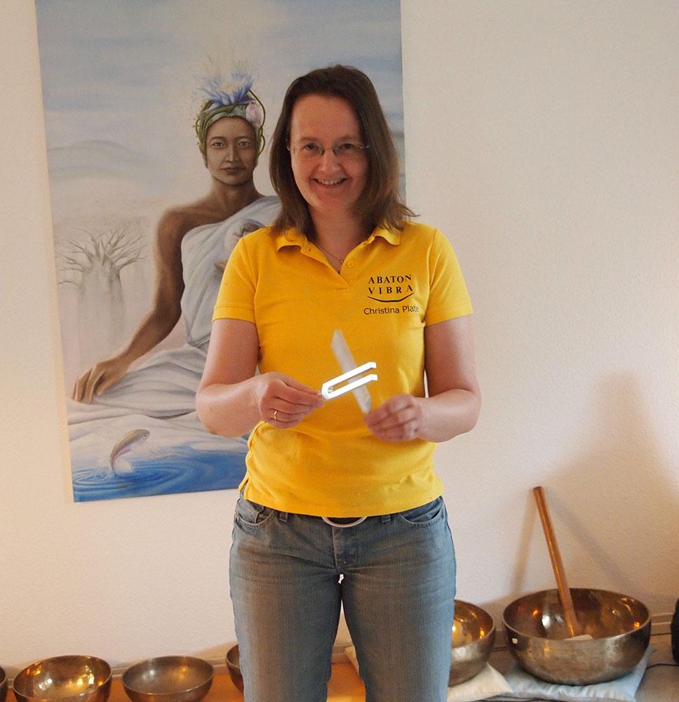 Stimmgabel Seminarleiterin Christina Plate