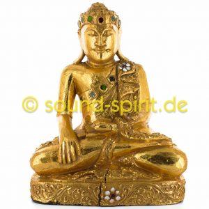 Buddha-Statue aus Holz vergoldet