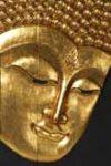 Buddha-Relief vergoldet