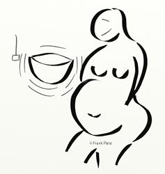 Schwangere und Klangschale